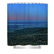 Panoramic View Overlooking Anchorage Shower Curtain
