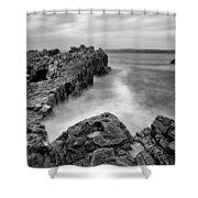 Ballycastle - Pans Rock To Rathlin Island Shower Curtain