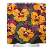 Pansies Are For Thoughts Shower Curtain