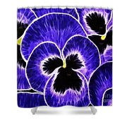 Pansy Expressive Brushstrokes Shower Curtain
