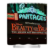 Pantages Theather Marquie Shower Curtain