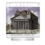 Pantheon Santa Maria Della Rotonda Shower Curtain