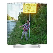 Panther Crossing Shower Curtain