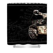 Panzer Tiger I Front Bk Bg Shower Curtain