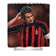 Paolo Maldini Shower Curtain by Paul Meijering