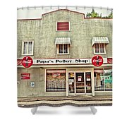 Papa's Poboy Shop Shower Curtain