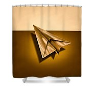 Paper Airplanes Of Wood 1 Shower Curtain