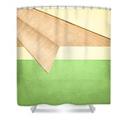 Paper Airplanes Of Wood 17 Shower Curtain