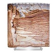 Paper Bark Background Shower Curtain