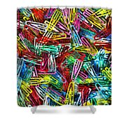 Paper Clips Shower Curtain