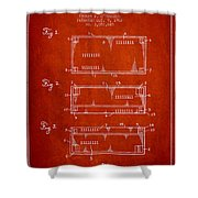 Paper Currency Patent From 1962 - Red Shower Curtain
