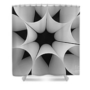 Paper Flower Black And White Shower Curtain