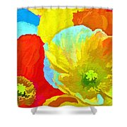Paper Flowers Shower Curtain
