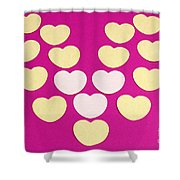 Paper Hearts Shower Curtain