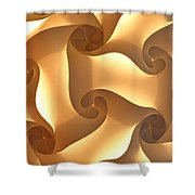 Paper Lantern Abstract Shower Curtain