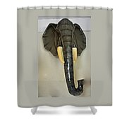 Paper Mache Elephant By Sergio Bustamante Shower Curtain