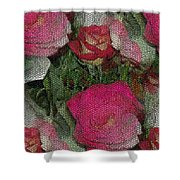 Paper Roses Shower Curtain
