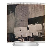 Papers 2 Shower Curtain