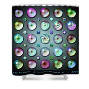 Paperweights And Marbles Shower Curtain
