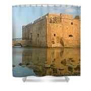 Paphos Harbour Castle Shower Curtain