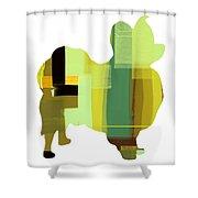 Papillion Shower Curtain by Naxart Studio