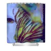 Papillon Bleu Shower Curtain