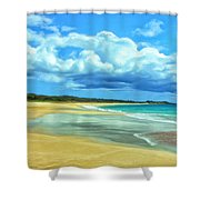 Papohaku Beach Molokai Shower Curtain