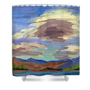 Papoose Lake And Clouds Shower Curtain