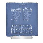 Parachute Design Patent From 1964 - Light Blue Shower Curtain