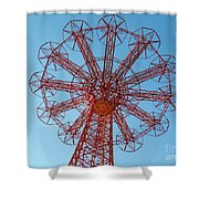 Parachute Jump-coney Island Shower Curtain