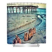 Paradise Cove Pier Shower Curtain