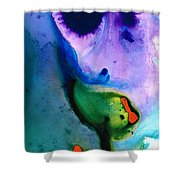Paradise Found - Colorful Abstract Painting Shower Curtain