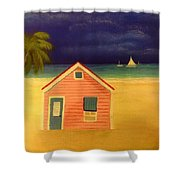 Paradise In Pink Shower Curtain