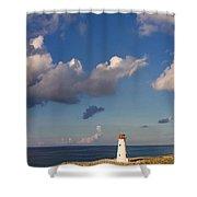 Paradise Island Lighthouse Shower Curtain by Stephanie McDowell