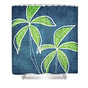 Paradise Palm Trees Shower Curtain by Linda Woods