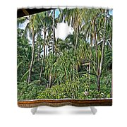 Paradise Patio Shower Curtain