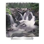 Paradise River Cascade Mt Rainier Shower Curtain