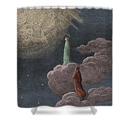 Paradiso  Canto Fourteen Shower Curtain