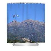 Paragliding Shower Curtain