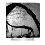 Parallel Lines Composition Shower Curtain