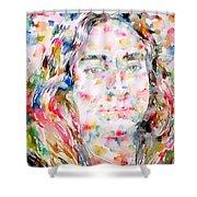 Paramahansa Yogananda Watercolor Portrait Shower Curtain