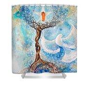 Paramhansa Yogananda - Mist Shower Curtain