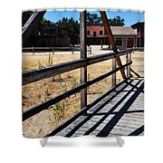 Paramount Ranch Bridge Shower Curtain