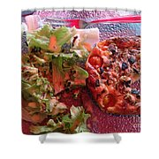 Sous Le Parasol Rouge Shower Curtain