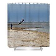Parasurfer2 Shower Curtain by Rrrose Pix
