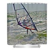 Parasurfing Shower Curtain by SC Heffner