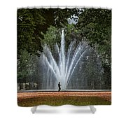 Parc De Bruxelles Fountain Shower Curtain