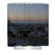 Parc Guell At Sunrise Shower Curtain