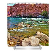 Pariah Riffle Near Lee's Ferry In Glen Canyon National Recreation Area-arizona Shower Curtain