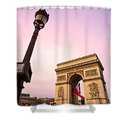 Paris - Arc De Triomphe  Shower Curtain